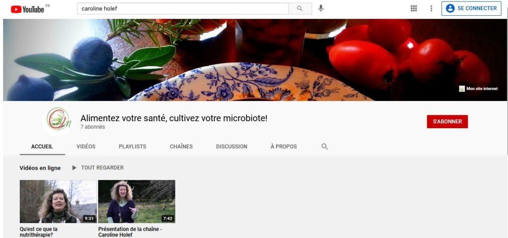 lancement de ma chaîne Youtube pour vous parler de Nutrithérapie (Jean Paul Curtay), de Santé intégrative (méthode du Dr Donatini) et de soins olfactifs (Patty Canac)
