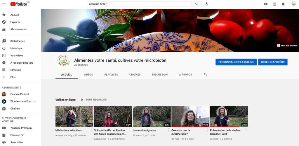 Présentation des nouvelles vidéos sur l'olfaction et les méditations olfactives sur ma chaîne YouTube.
